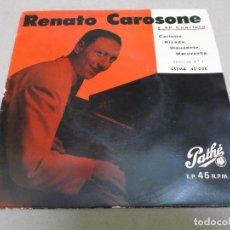 Discos de vinilo: RENATO CAROSONE (EP) CARLOTTA AÑO – 1958. Lote 289620983