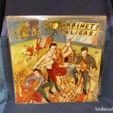 Discos de vinilo: LOTT144 LP GABINETE CALIGARI AL CALOR DEL AMOR EN UN BAR 3 CIPRESES 1986 MUY CORRECTO. Lote 289623288