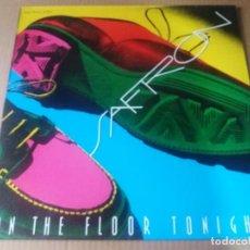 Discos de vinilo: SAFRON / ON THE FLOOR TONIGHT / MAXI-SINGLE 12 PULGADAS. Lote 289624723
