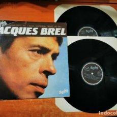 Discos de vinilo: JACQUES BREL - 2 LP VINILO DEL AÑO 1981 ESPAÑA MOVIE PLAY CONTIENE 24 TEMAS. Lote 289627663
