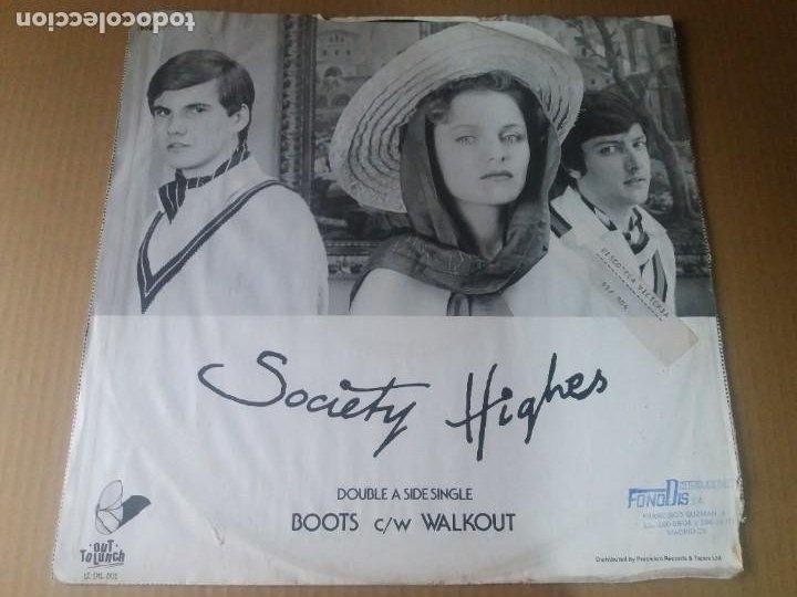 SOCIETY HIGHES / BOOTS / MAXI-SINGLE 12 PULGADAS (Música - Discos de Vinilo - Maxi Singles - Electrónica, Avantgarde y Experimental)