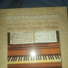 Discos de vinilo: ANTONIO BACIERO - RECITAL DE MUSICA ESPAÑOLA DEL S XVIII LP - CONTIENE LIBRETO, MUY BUEN ESTADO. Lote 289636818