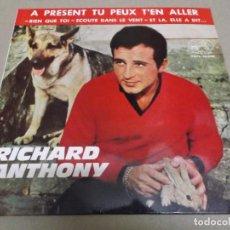 Discos de vinilo: RICHARD ANTHONY (EP) A PRESENT TU PLUX T'EN ALLER AÑO – 1964. Lote 289647203