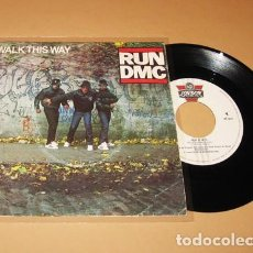 Discos de vinilo: RUN DMC / AEROSMITH - WALK THIS WAY - SINGLE - 1986. Lote 289651573