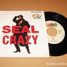 Discos de vinilo: SEAL - CRAZY - PROMO SINGLE (MEZCLA ESPECIAL 40 PRINCIPALES) - 1992. Lote 289651783