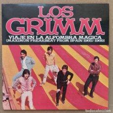 Discos de vinilo: LOS GRIMM - VIAJE EN LA ALFOMBRA MÁGICA (LP, VINILO). Lote 289652983