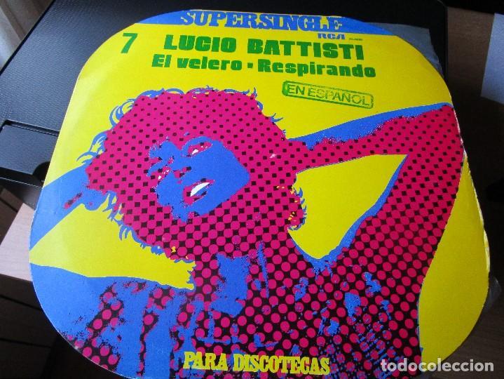 SUPERSINGLE LUCIO BATTISTI EN ESPAÑOL EL VELERO , RESPIRANDO (Música - Discos de Vinilo - Maxi Singles - Canción Francesa e Italiana)