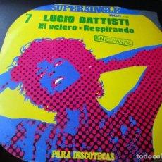 Discos de vinilo: SUPERSINGLE LUCIO BATTISTI EN ESPAÑOL EL VELERO , RESPIRANDO. Lote 289664058