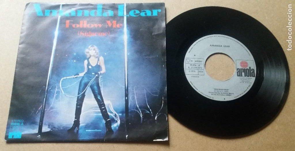 AMANDA LEAR / FOLLOW ME / SINGLE 7 PULGADAS (Música - Discos - Singles Vinilo - Pop - Rock - Internacional de los 70)