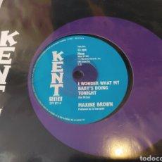 Discos de vinilo: MAXINE BROWN/CHUCK JACKSON–I WONDER WHAT MY BABY'S DOING TONIGHT / TWO STUPID FEET. SINGLE. Lote 289682233