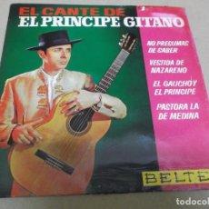 Discos de vinilo: EL PRINCIPE GITANO (EP) PASTORA LA DE MEDINA AÑO – 1963. Lote 289682663