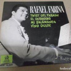 Discos de vinilo: RAFAEL FARINA (EP) TWIST DEL FARAON AÑO – 1962. Lote 289684998