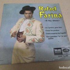 Discos de vinilo: RAFAEL FARINA (EP) LOS IGUALES PARA HOY AÑO – 1961. Lote 289685373