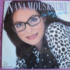 Discos de vinilo: LP - NANA MOUSKOURI - CON TODA EL ALMA (DOBLE DISCO, SPAIN, PHILIPS 1986). Lote 289685988