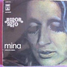 Discos de vinilo: LP - MINA - AMOR MIO (CANTA EN ESPAÑOL) (SPAIN, EMI ODEON 1972). Lote 289686348