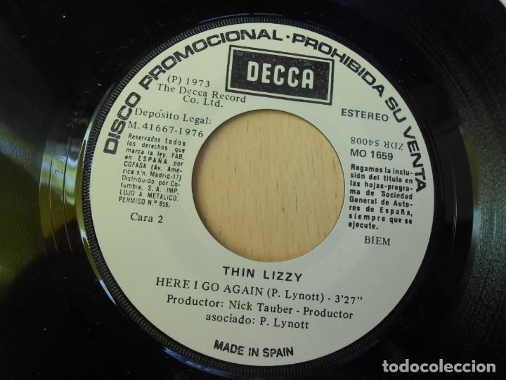 Discos de vinilo: THIN LIZZY, SG, THE ROCKER + 1, AÑO 1976 PROMO - Foto 4 - 289694073
