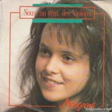Discos de vinilo: 45 GIRI MORGANE NOUS ON VEUT DES VIOLONS CAR MUSIC DURECO SABAM BELGIUM 1992 EUROFESTIVAL CLAUDIO BA. Lote 289695203