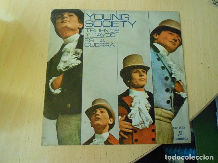 YOUNG SOCIETY, SG, TRUENOS Y RAYOS + 1, AÑO 1971 (Música - Discos - Singles Vinilo - Pop - Rock - Internacional de los 70)