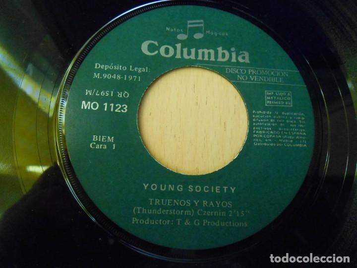 Discos de vinilo: YOUNG SOCIETY, SG, TRUENOS Y RAYOS + 1, AÑO 1971 - Foto 3 - 289706583