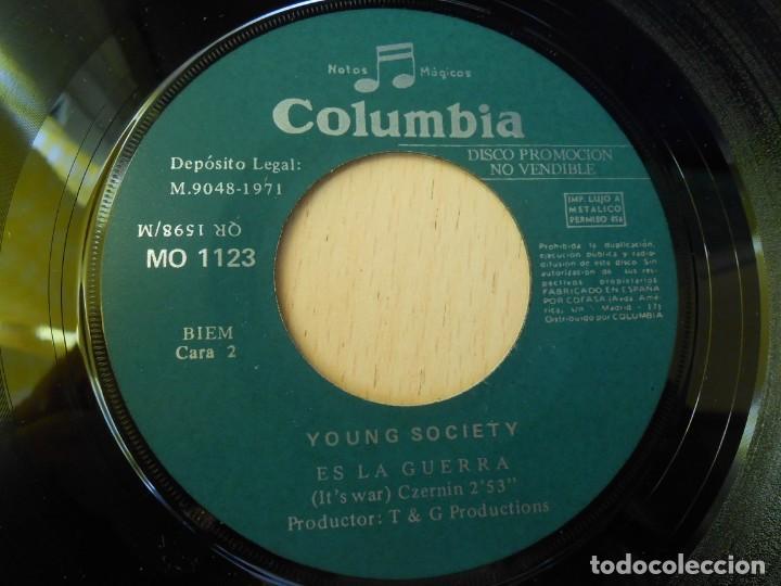 Discos de vinilo: YOUNG SOCIETY, SG, TRUENOS Y RAYOS + 1, AÑO 1971 - Foto 4 - 289706583