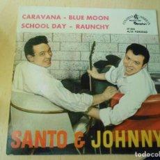 Discos de vinilo: SANTO & JOHNNY, EP, CARAVANA + 3, AÑO 1961. Lote 289708678