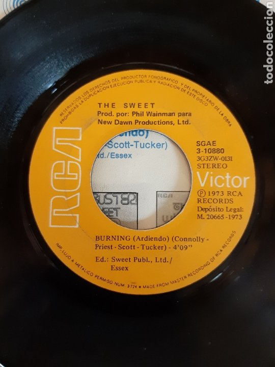 Discos de vinilo: THE SWEET. HELL RAISER. BURNING.RCA. 1973. ESP - Foto 4 - 289710328