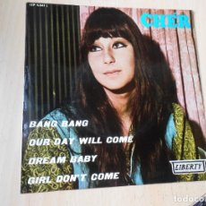 Discos de vinilo: CHÉR, EP, BANG BANG + 3, AÑO 1966. Lote 289715528