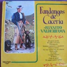 Discos de vinilo: LP - JUANITO VALDERRAMA - FANDANGOS DE CACERIA (SPAIN, BELTER 1972). Lote 289716073