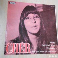 Discos de vinilo: CHÉR, EP, SUNNY + 3, AÑO 1966. Lote 289716078
