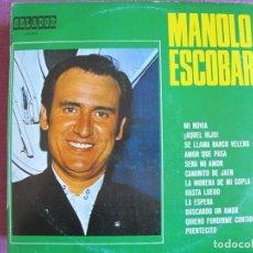 Discos de vinilo: LP - MANOLO ESCOBAR - MISMO TITULO (SPAIN, ORLADOR 1970, ESPECIAL PARA DISCOLIBRO). Lote 289717258
