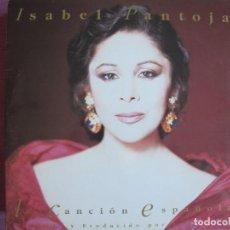 Discos de vinilo: LP - ISABEL PANTOJA - LA CANCION ESPAÑOLA (DOBLE DISCO, SPAIN, RCA 1990, CONTIENE ENCARTES). Lote 289717688
