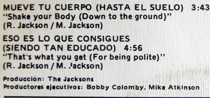 Discos de vinilo: THE JACKSONS MUEVE TU CUERPO DISCO DE VINILO 45 RPM GRUPO AÑOS 70 MICHAEL JACKSON MÚSICA POP FIVE 5 - Foto 2 - 289717718