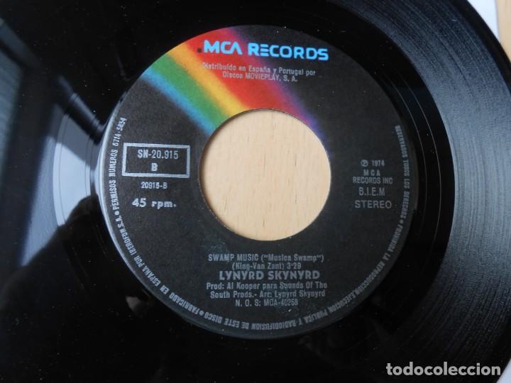 Discos de vinilo: LYNYRD SKYNYRD, SG, SWEET HOME ALABAMA + 1, AÑO 1974 - Foto 4 - 289722328