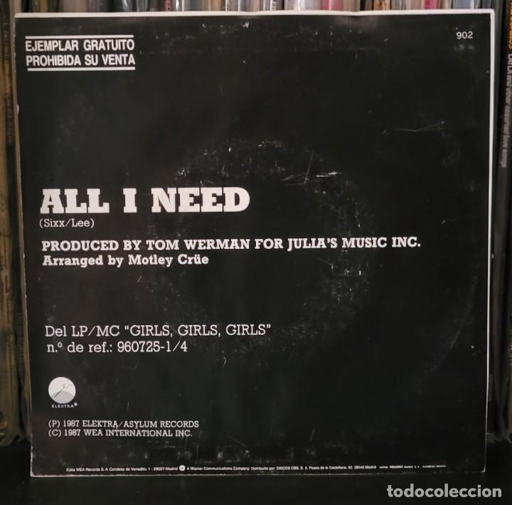 Discos de vinilo: MOTLEY CRUE - ALL I NEED (PROMOCIONAL) EXCELENTE ESTADO VER FOTOS - Foto 2 - 289730263