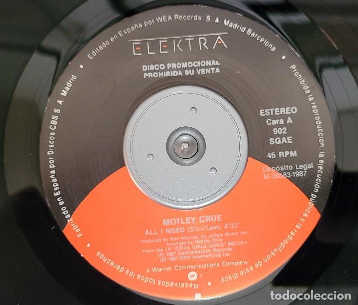 Discos de vinilo: MOTLEY CRUE - ALL I NEED (PROMOCIONAL) EXCELENTE ESTADO VER FOTOS - Foto 3 - 289730263