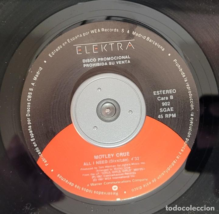 Discos de vinilo: MOTLEY CRUE - ALL I NEED (PROMOCIONAL) EXCELENTE ESTADO VER FOTOS - Foto 4 - 289730263