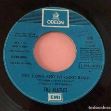 """Discos de vinilo: BEATLES """"THE LONG AND WIDING ROAD"""", SINGLE 7"""" 1970 EDICIÓN ESPAÑOLA (SIN PORTADA). Lote 289731088"""