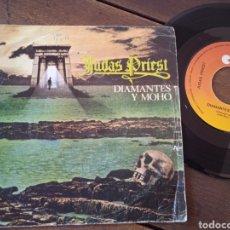 Discos de vinilo: JUDAS PRIEST. SINGLE. DIAMANTES Y MOHO. DIAMONDS AND RUST. MADE IN SPAIN 1977. Lote 289731813