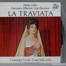 Discos de vinilo: LP. LA TRAVIATA. VERDI. MARIA CALLAS. Lote 289738908