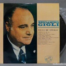 Discos de vinilo: LP. BENIAMINO GIGLI. ARIAS DE OPERAS. Lote 289739448