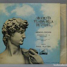"""Discos de vinilo: LP. KLETZKI. SYPHONY NO. 3 """"SCOTCH"""". """"CALM SEA AND PROPEROUS VOYAGE"""" OVERTURE. MENDELSSOHN. Lote 289739618"""