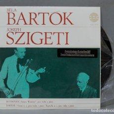 Discos de vinilo: LP BELA BARTOK. JOSEPH SZIGETI. BEETHOVEN. Lote 289739873