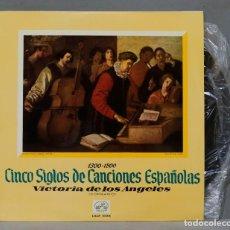 Discos de vinilo: LP. CINCO SIGLOS DE CANCIONES ESPAÑOLAS. VICTORIA DE LOS ANGELES SOPRANO. Lote 289740358