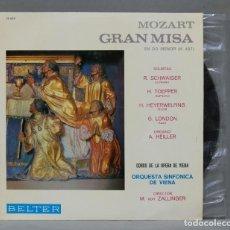 Discos de vinilo: LP. GRAN MISA K 427. MOZART. ZALLINGER. Lote 289740873