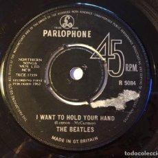 "Discos de vinilo: BEATLES ""I WANT TO HOLD YOUR HAND / THIS BOY"", SINGLE 7"" EDICIÓN INGLESA 1963. Lote 289740908"