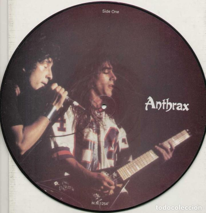 ANTHRAX * LP VINILO LIMITED EDITION INTERVIEW PICTURE DISC * UK 1987 (Música - Discos - LP Vinilo - Heavy - Metal)