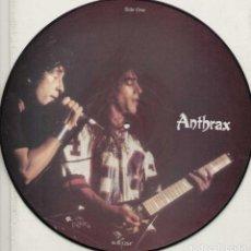 Discos de vinilo: ANTHRAX * LP VINILO LIMITED EDITION INTERVIEW PICTURE DISC * UK 1987. Lote 289740988