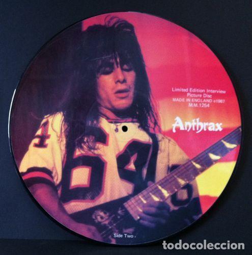Discos de vinilo: ANTHRAX * LP Vinilo Limited Edition Interview Picture Disc * UK 1987 - Foto 2 - 289740988