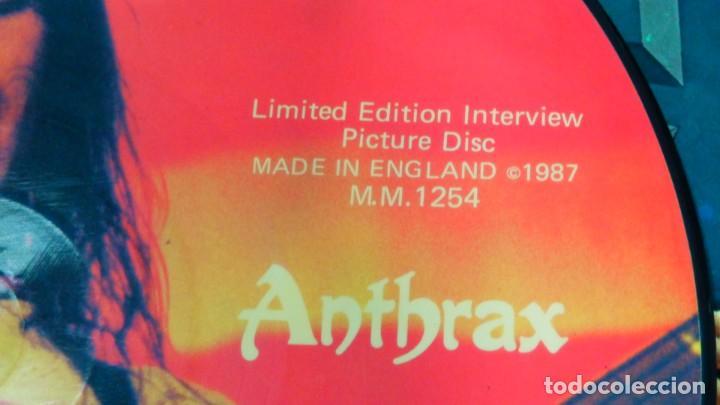 Discos de vinilo: ANTHRAX * LP Vinilo Limited Edition Interview Picture Disc * UK 1987 - Foto 4 - 289740988