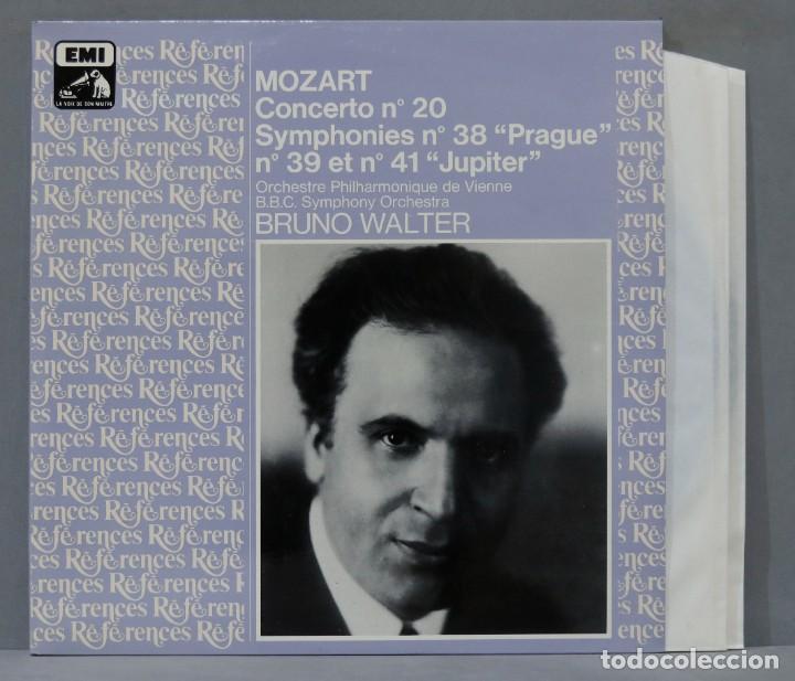 """2 LP. WALTER. MOZART CONCERTO NO 20. SYMPHONIES NO 38 """"PRAGUE"""". NO 39 ET NO 41 """"JUPITER"""" (Música - Discos - LP Vinilo - Clásica, Ópera, Zarzuela y Marchas)"""